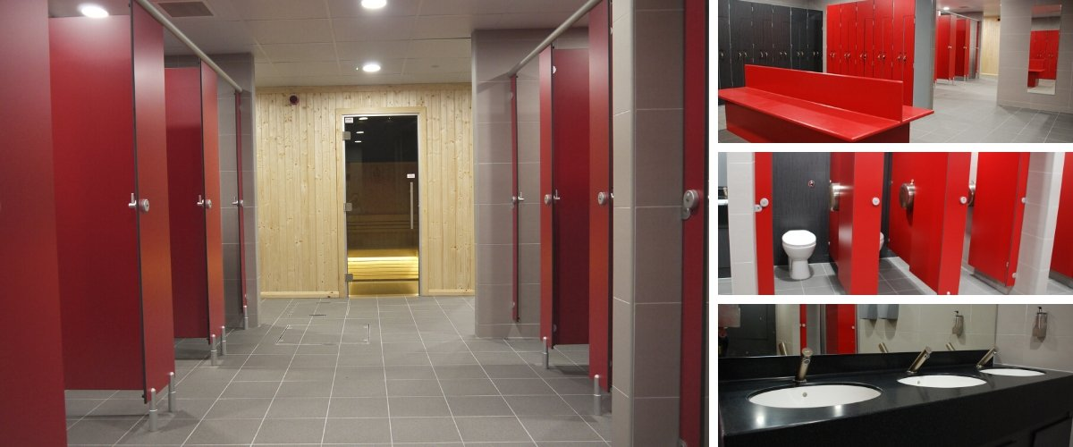 Junction Sports Centre Gym Changing Room & Shower Refurbishment - Case Study