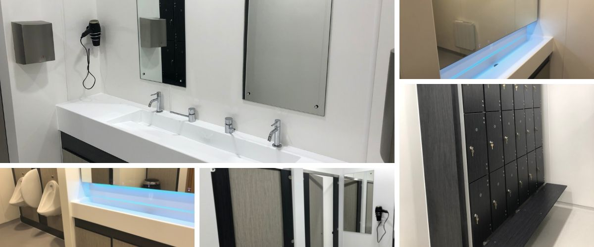 The Exeter - Shower & Changing Room Refurbishment - Case Study