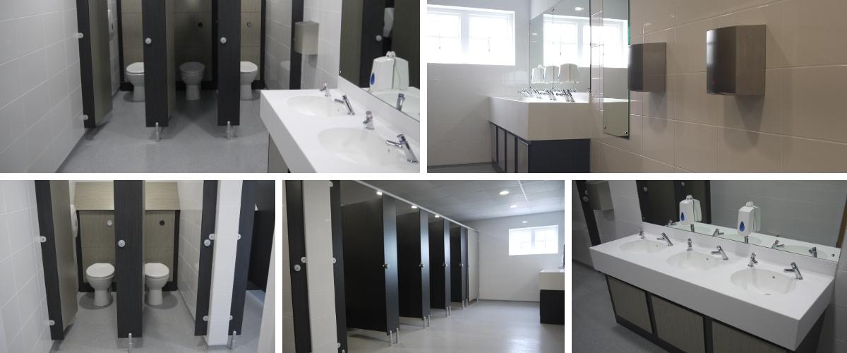 Ansford Academy School Toilets Cubicle Refurbishment - Case Study