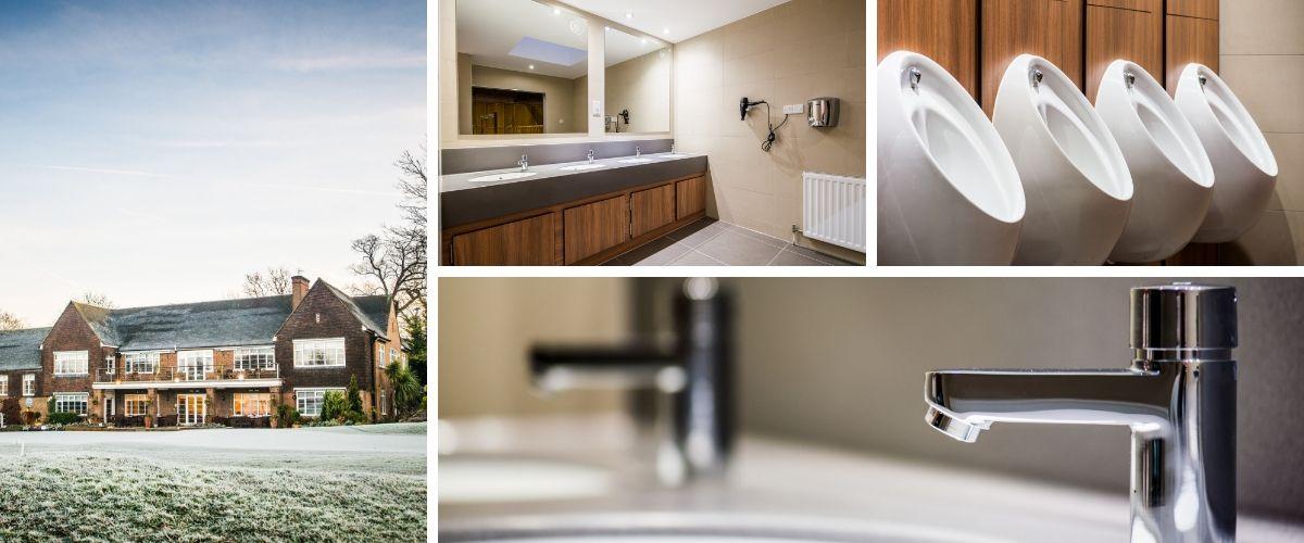 Male Washroom Refurbishment for Wimbledon Park Golf Club, London - Case Study