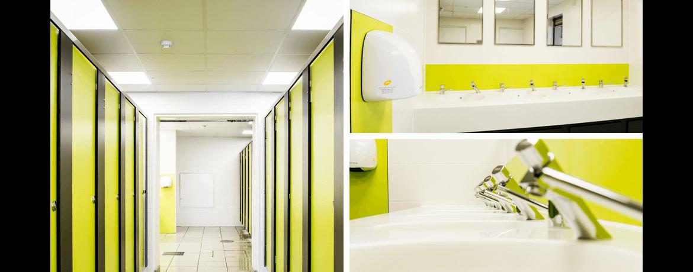 Theme Park Toilet Block Refurbishment, Surrey - Case Study