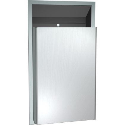 ASI Traditional™ Semi-recessed Waste Bin - 46 L   Commercial Washrooms