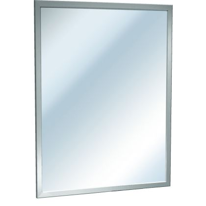 ASI Stainless Steel Inter-Lok Angle Frame Mirror - Plate Glass | Commercial Washrooms