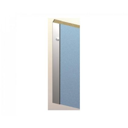 Cubicle Wall Channel 1800mm Length In Silver - 12-13mm
