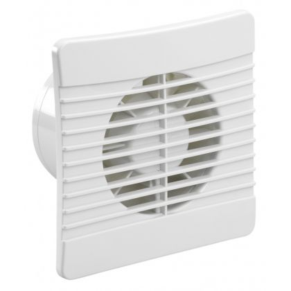 100mm Low Profile Wall Mounted Extraction Fan With Timer And Back Draught Shutter