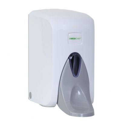 Medichief Manual Elbow Operated Soap Dispenser (White)