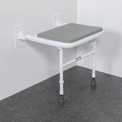 Wall Mounted Padded Shower Seat With Legs