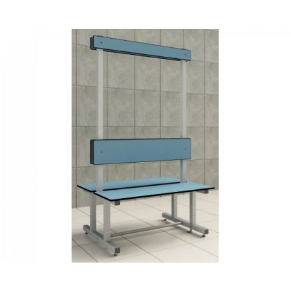 Double Island Changing Room Bench Seat - Wet and Dry Environments