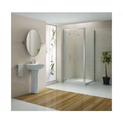 Blanc Pivot Shower Door Enclosure Chrome/Clear