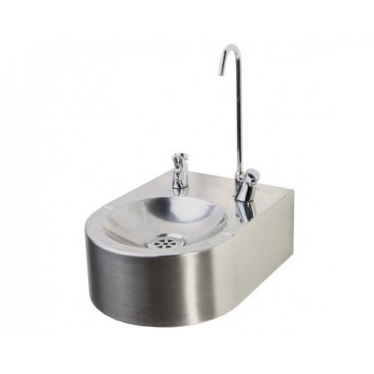 Wall Mounted Drinking Fountain with Bubbler Tap and Bottle Filler from Pland