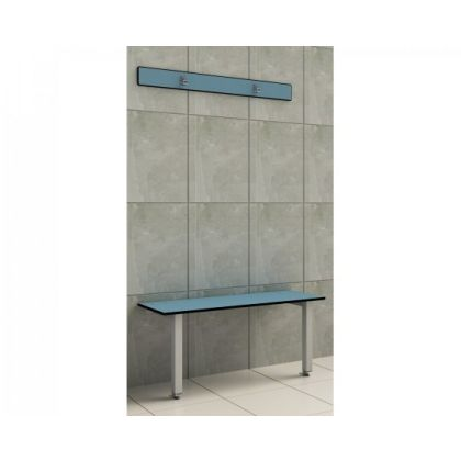 Wall and Floor Braced Changing Room Bench Seat - Wet and Dry Environments
