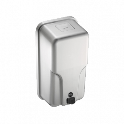 ASI ROVAL™ Vertical Stainless Steel Liquid Soap Dispenser | Commercial Washrooms