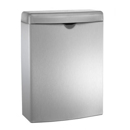 ASI ROVAL™ Stainless Steel Sanitary Waste Bin | Commercial Washrooms