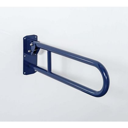 Stainless steel lift and lock hinged support rail - 800mm | Commercial Washrooms