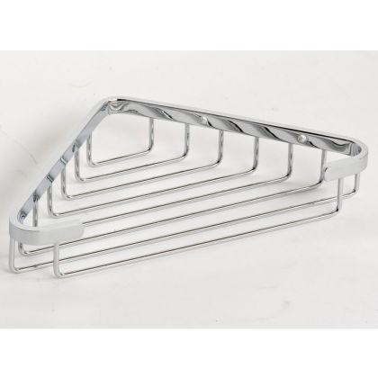 NymaSTYLE Polished Chrome Corner Shower Basket | Commercial Washrooms