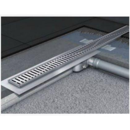 585mm Aco ShowerDrain C Line for Tiled Floor (50mm Outlet) - Quadrato Grating