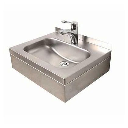 Twyford Stainless Steel Wall Hung Basin (1 or 1 tap holes)