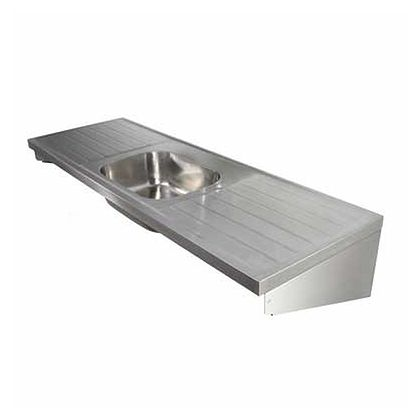Twyford Hospital Sink with Single Sink & 2 Drainers (1800mm)
