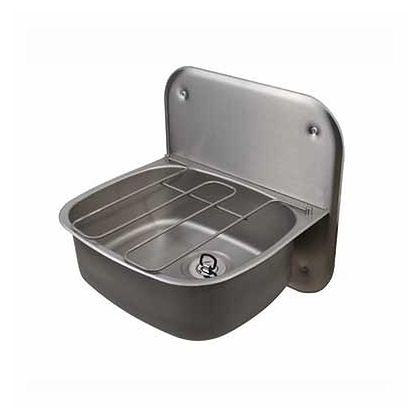 Twyford Wall Hung Bucket Sink with Splashback and Grid