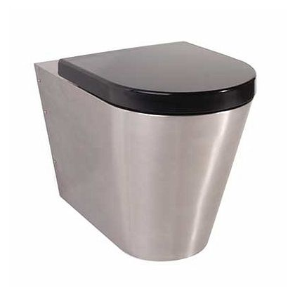Twyford Stainless Steel back-to-wall toilet pan (optional seat and cover)
