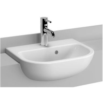 Vitra S20 One Tap Hole Semi Recessed Wash Hand Basin (450mm)