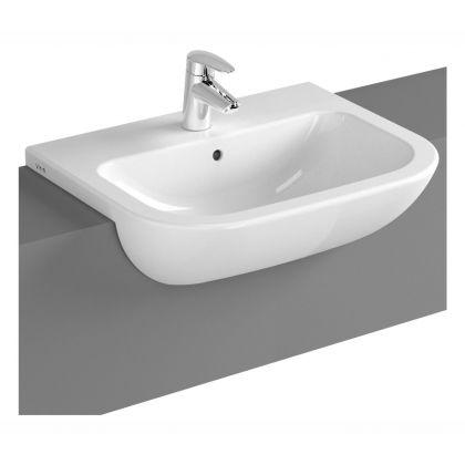 Vitra S20 Semi Recessed Wash Hand Basin (550mm) - 1 tap hole