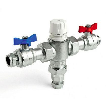 Intamix Pro 22mm Thermal Mixing Valve (TMV) with Isolation Valves