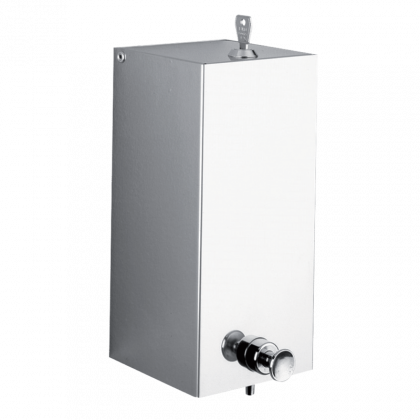 Delabie Rectangular Wall Mounted Liquid Soap Dispenser 1L