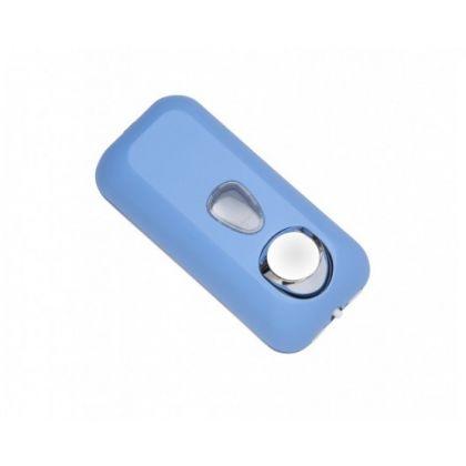 Liquid Soap Dispenser (550ml) Soft Touch Blue Plastic