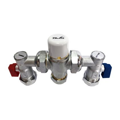 DVS Thermostatic Mixing Valve 4 in 1 TMV3 15mm/22mm