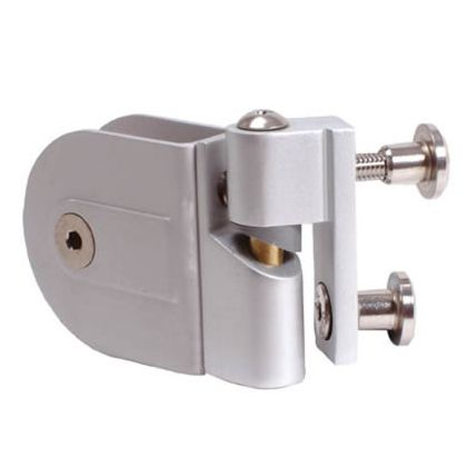 Adjustable Rise and Fall Toilet Cubicle Hinges - Silver Anodised Aluminium, 12-13mm (Pair)