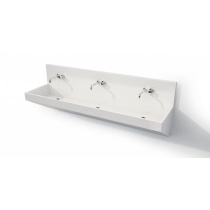 Angular Solid Surface Wash Trough for Wall Mounted Taps (ASSTW600)