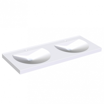 Franke Miranit Ronda Washbasins - Double Station without Tap Holes
