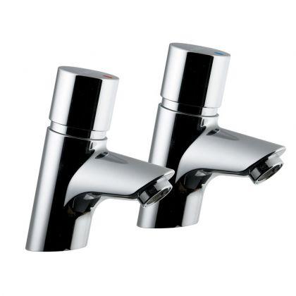 Armitage Shanks Avon 21 Push Button Self Closing Pillar Taps (Pair) | Commercial Washrooms