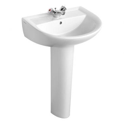 Armitage Shanks Sandringham 21 55cm Washbasin with 1 Taphole and Overflow | Commercial Washrooms