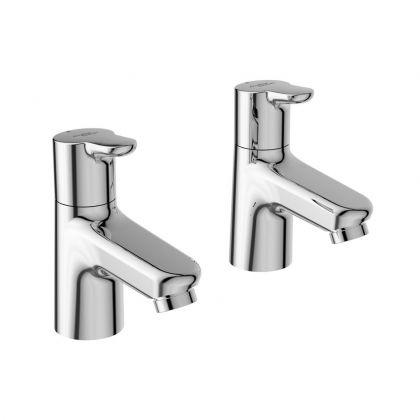 Armitage Shanks Contour 21+ Basin Pillar Taps | Commercial Washrooms