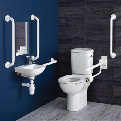 Armitage Shanks | Contour 21+ Doc M Close Coupled Left-Handed rails | Commercial Washrooms
