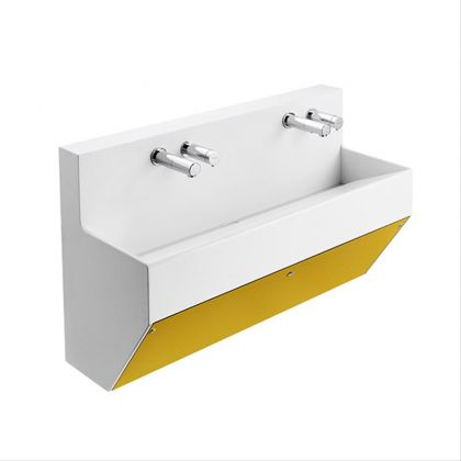 Armitage Shanks Contour 21 Splash Wall Hung Wash Trough - Yellow - 1000mm | Commercial Washrooms