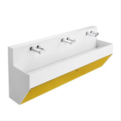 Armitage Shanks Contour 21 Splash 1500mm Wall Hung Wash Trough | Yellow | Commercial Washrooms