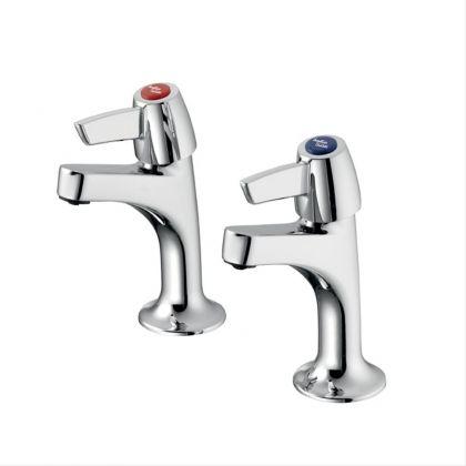 Armitage Shanks Sandringham 21 High Neck Sink Pillar Taps with Lever Handles | Commercial Washrooms