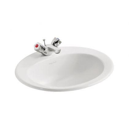 Armitage Shanks Sandringham 21 countertop washbasin 50cm - 1 tap holes, no chainstay hole