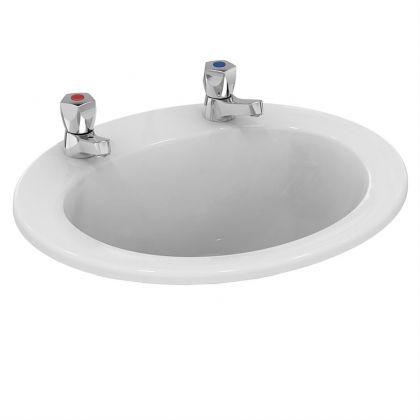 Armitage Shanks Sandringham 21 countertop washbasin 50cm - 2 tap holes, no chainstay hole