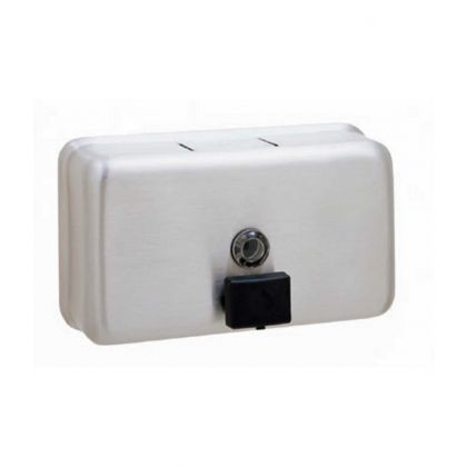 Bobrick ClassicSeries® Horizontal Surface-Mounted Soap Dispenser | Commercial Washrooms