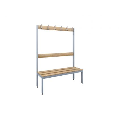 Single-Sided Island Changing Room Bench Seat with Ash Slats