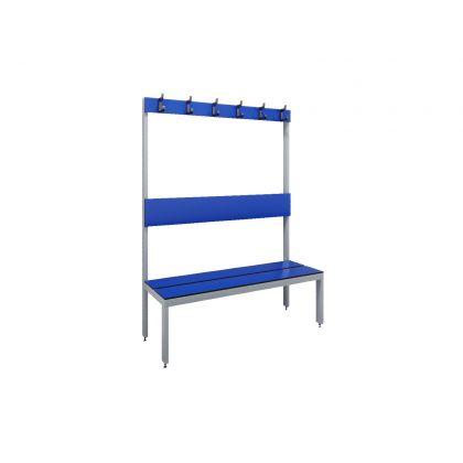 Single-Sided Island Changing Room Bench Seat - SGL Slats