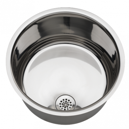 Franke Round Polished Stainless Steel Wash Hand Basin