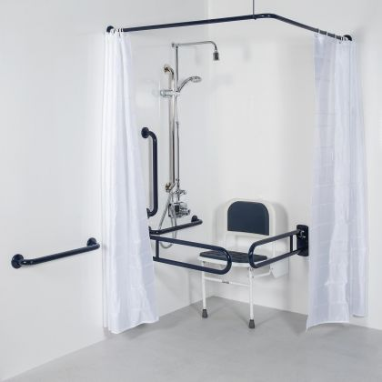 Bristan DocM Shower Pack Blue inc TMV3 Thermostatic Lever Shower Kit