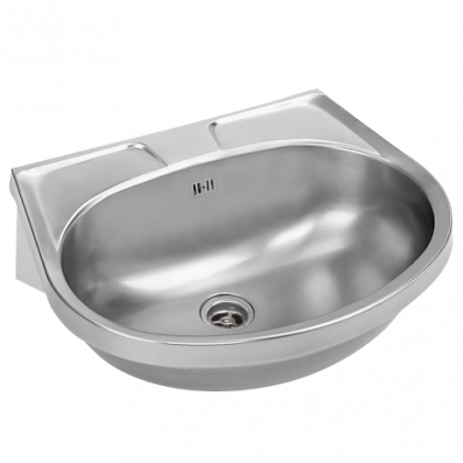 Franke Stainless Steel Wall Hung Hand Wash Basin - with overflow, a single tap hole, plus a plug and chain