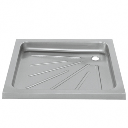 Franke Stainless Steel Shower Tray For Inset Mounting (900 x 900mm) and Grated Waste