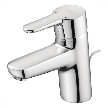 Ideal Standard Concept Blue Basin Mixer Tap with Pop up Waste | Commercial Washrooms